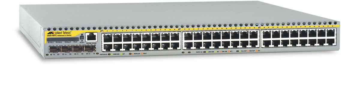 Allied Telesis x900-48FE 10/100TX x 48 ports managed Fast Ethernet Layer 3 switch with four SFP expansion bays