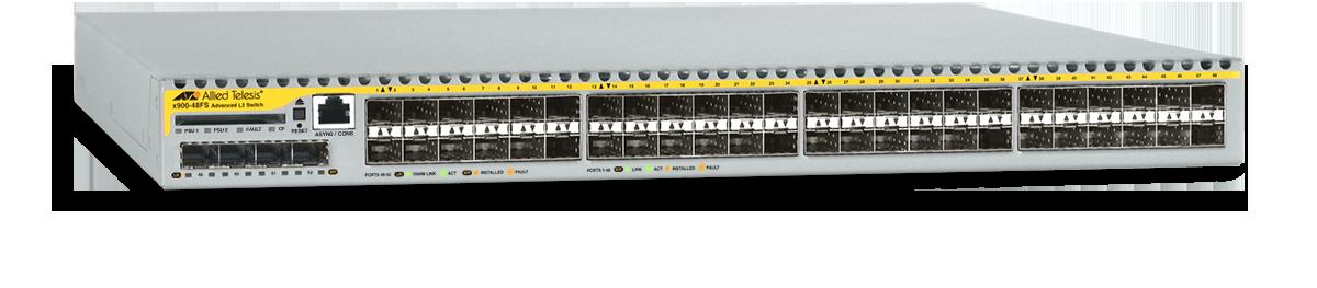 Allied Telesis x900-48FS 48 x fast Ethernet SFP ports Layer 3 switch with 4 x Gigabit uplink ports