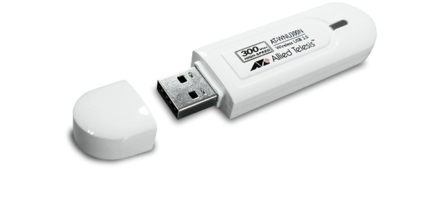 Allied Telesis WNU300N IEEE 802.11b/g/n 300Mbps high-speed wireless USB adapter