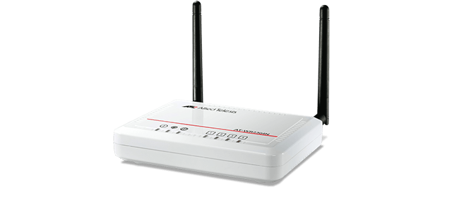 Allied Telesis WR2304N IEEE 802.11b/g/n small business wireless router with four Fast Ethernet ports