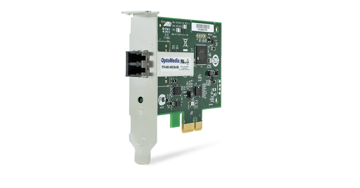 ADD-ON-COMPUTER PERIPHERALS ADD-PCIE-SC-SX-X1 1GBS Single SC PCIe X1 NIC Adapter
