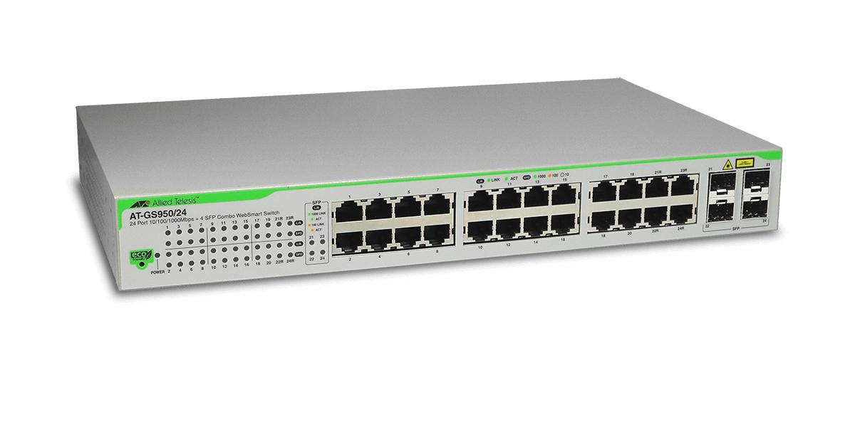 Gs950 24 Gigabit Websmart Switch Allied Telesis